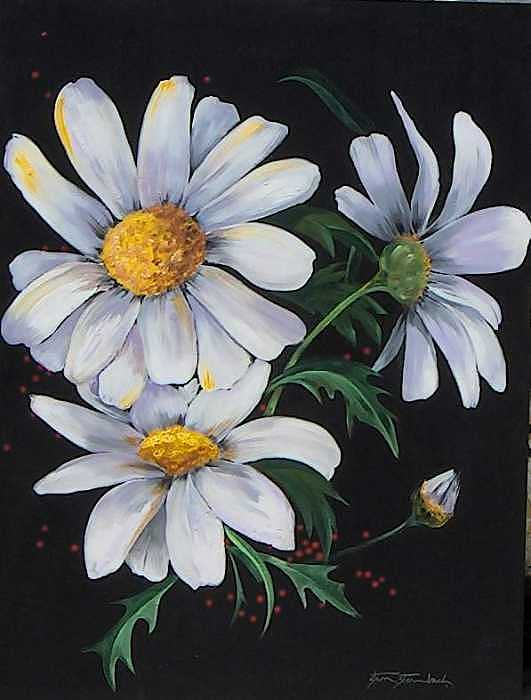 Painting Painting - Summer Daisies by Stan  Sternbach