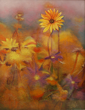 Flowers Pastel - Summer Field by Donna Slade
