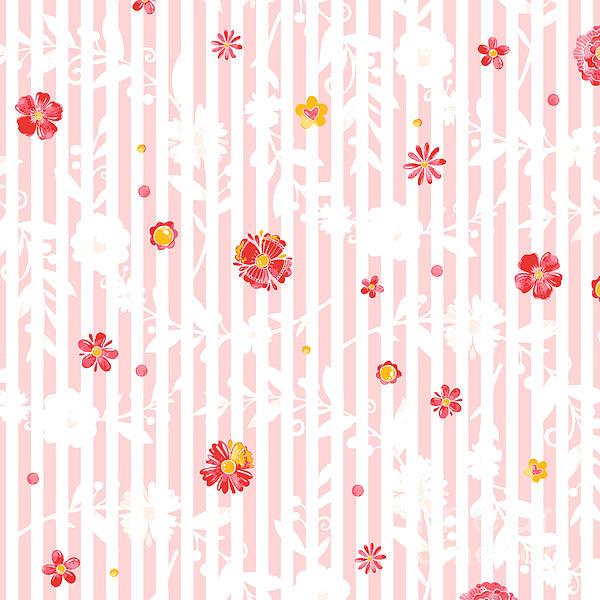 Flowers Mixed Media - Summer Garden Floral Pattern by Heinz G Mielke