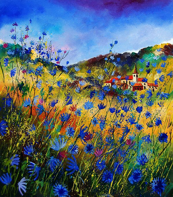 Flowers Painting - Summer Glory by Pol Ledent