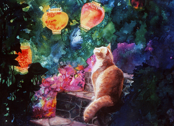 Kitty Painting - Summer Magic by Valerie Aune