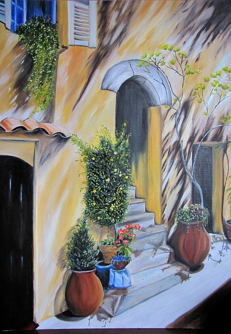 Street Painting - Summer. by Maria Molnar