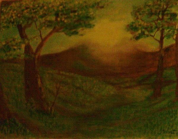 Landscape Painting - Summer Meadow by Helen Vanterpool