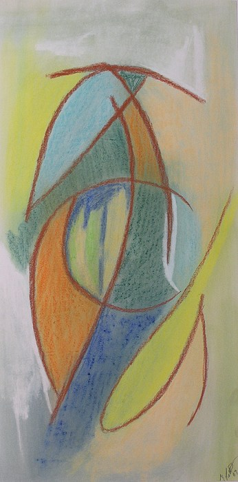 Abstract Drawing - Summer Tree by Gregory Letts