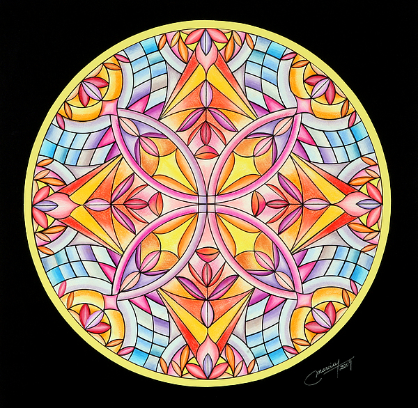 Mandala Painting - Summers Delight by Marcia Lupo