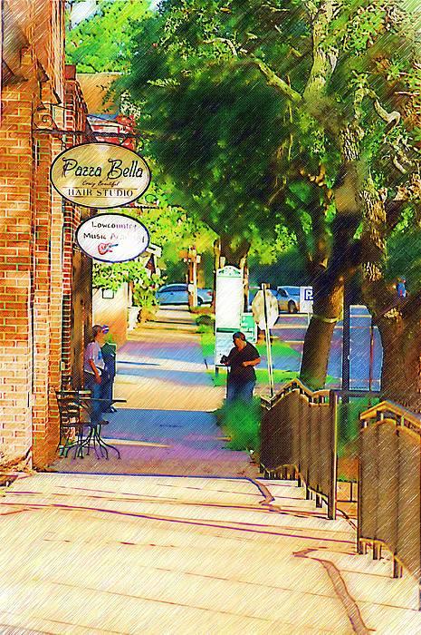 Street Photograph - Summerville Sc by Donna Bentley