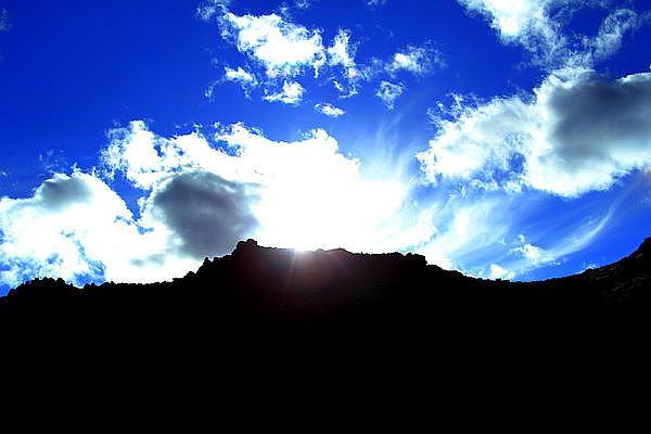 Landscape Photograph - Sun Burst by Michael Draper