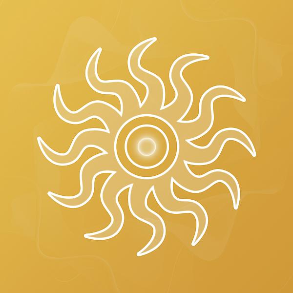 Abstract Digital Art - Sun Salutation by Sallie Keys