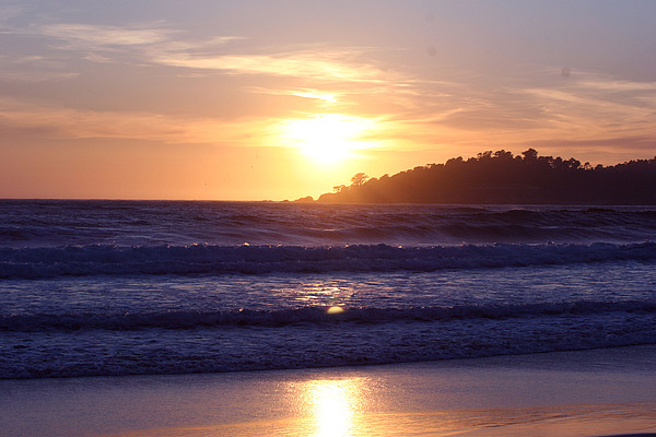 Sun Set Photograph - Sun Set In Carmel by Ofelia  Arreola