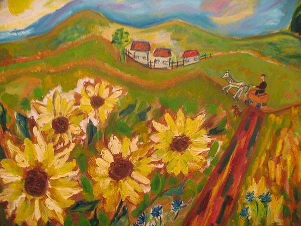 American Painting - Sun Song by Maria  Kolucheva