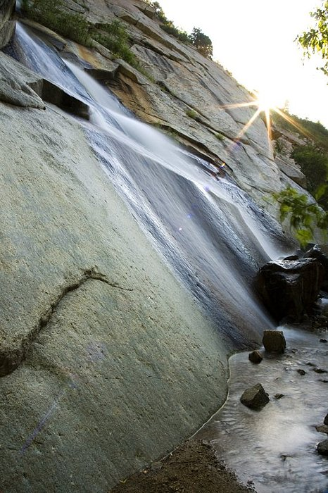 Waterfall Photograph - Sunburst by Michael Wells