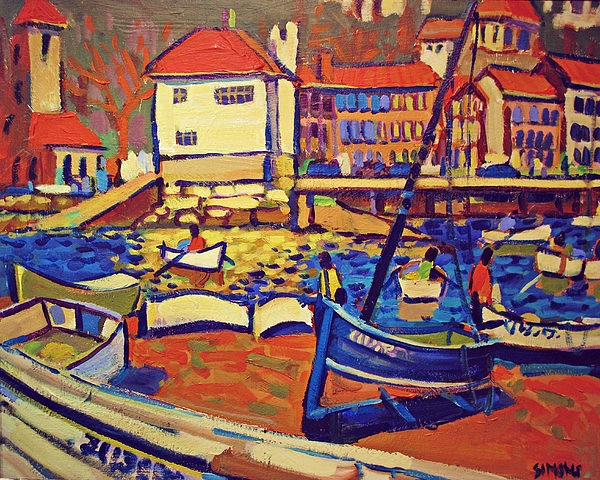 Paintings Painting - Sunday Boaters by Brian Simons