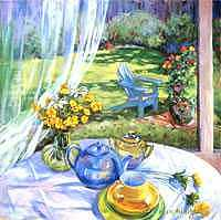 Sunday Morning Painting by Betty Cummings