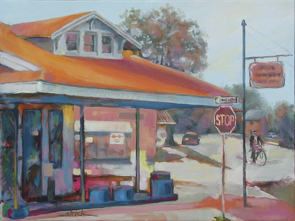 Southern Painting - Sunday Traffic by Carol Strickland
