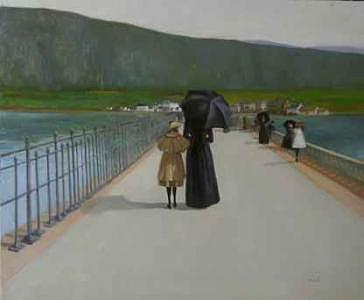 Ireland Painting - Sunday Walk With Mother by Martin Driscoll