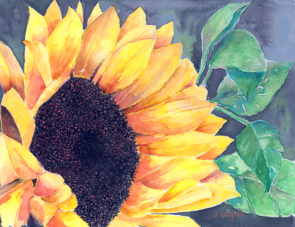 Sunflower Painting - Sunflower by Arline Wagner