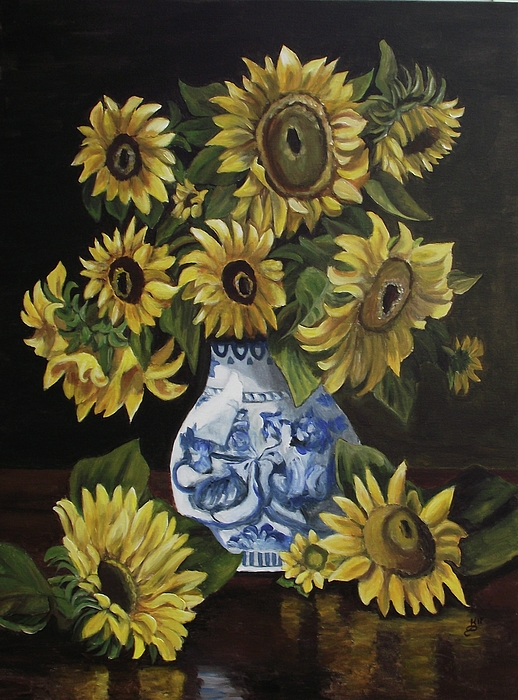 Acrylic Painting - Sunflower Bouquet by Kim Selig