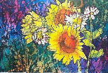 Sunflowers Painting - Sunflower Fantasy by Gail Ribas