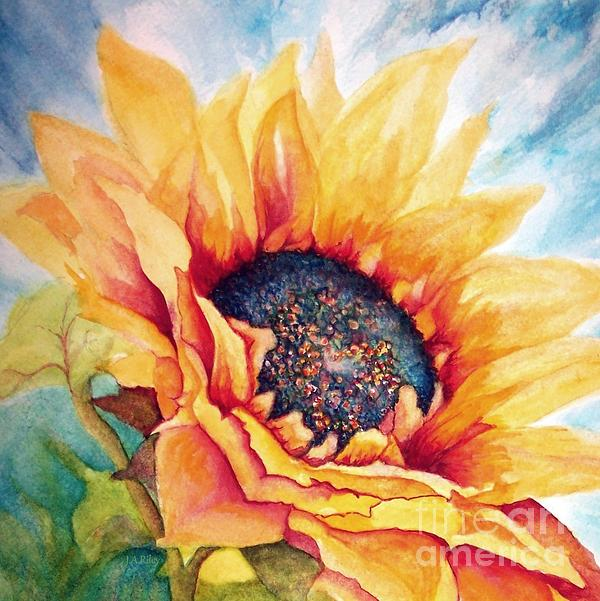 Sunflower Painting - Sunflower Joy by Janine Riley