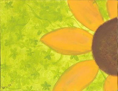 Sunflower Painting - Sunflower by Laurel Leiker