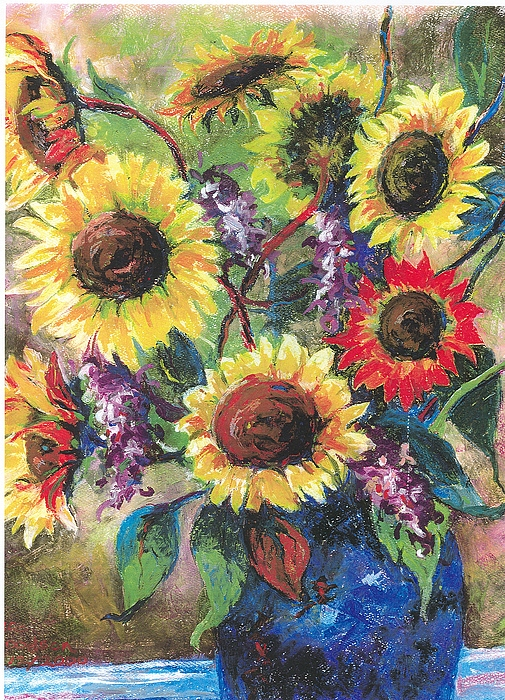 Flowers Painting - Sunflower Medley by Grace Goodson