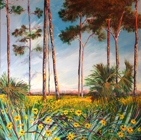 Trees Painting - Sunflower Revival by Michele Hollister - for Nancy Asbell