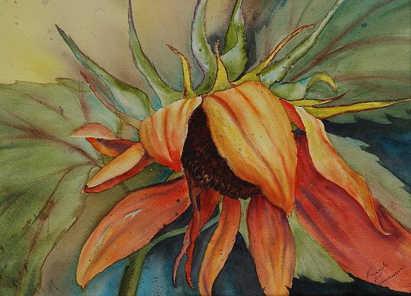 Sunflower Painting - Sunflower by Ruth Kamenev