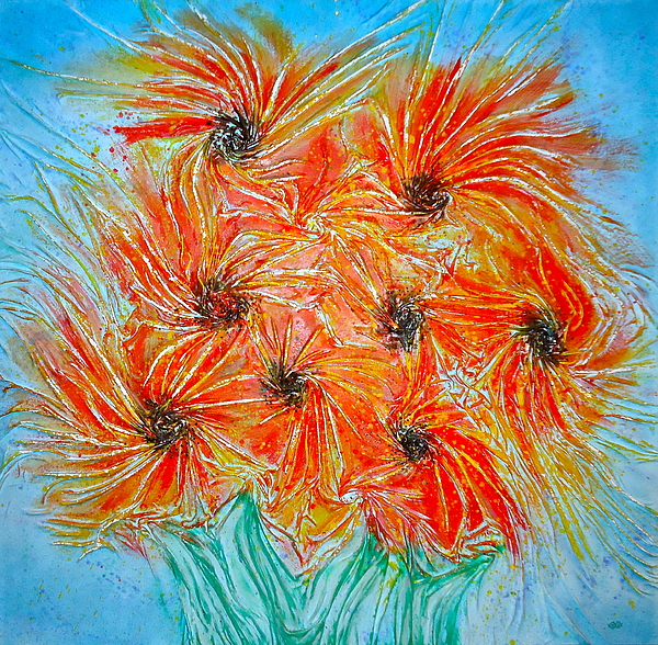 Sun Painting - Sunflowers by Marie Halter