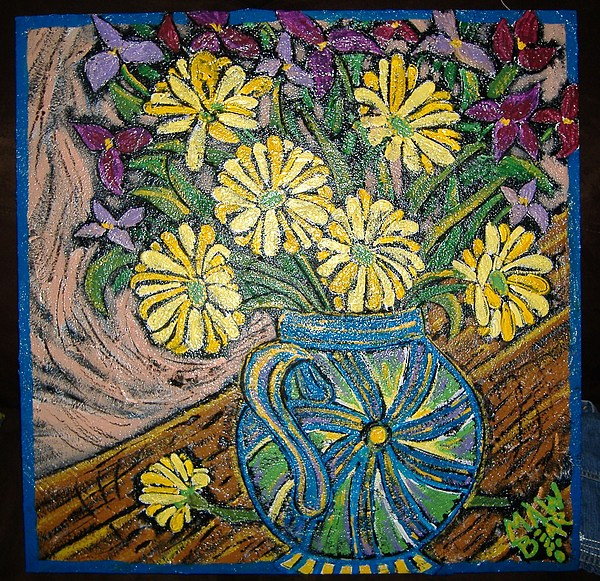 Sunflowers N Swirl Teapot Painting by Maw Bear -Kimberly Webber Young