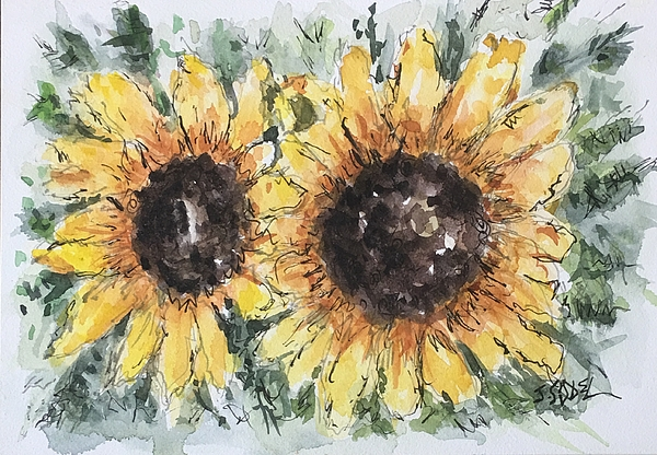 Floral Painting - Sunflowers by Stephanie Sodel