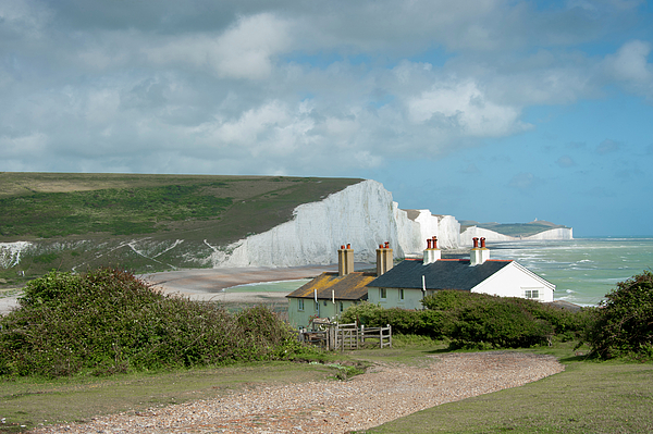 Cuckmere Haven Photograph - Sunlight On The Seven Sisters by Donald Davis