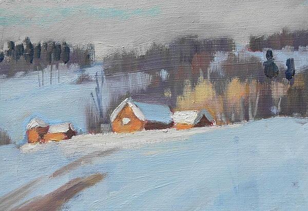 Sunlight Study Painting by Len Stomski