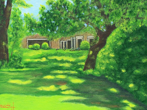 Landscape Painting - Sunlit View by Charles Vaughn