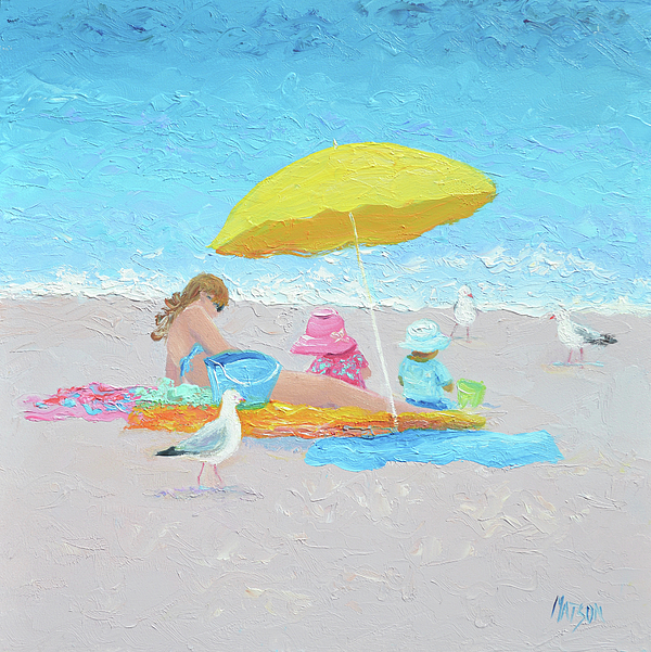 Beach Painting - Sunny Beach Days by Jan Matson