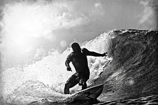 Surf Photograph - Sunny Garcia In Black And White by Paul Topp