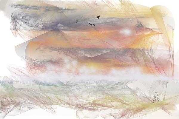 Angela A Stanton Painting - Sunrise In Steamy Fog by Angela Stanton