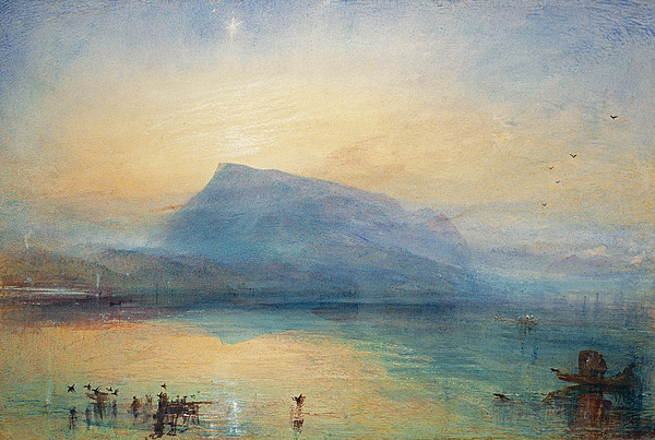 The Painting - Sunrise by Joseph Mallord William Turner