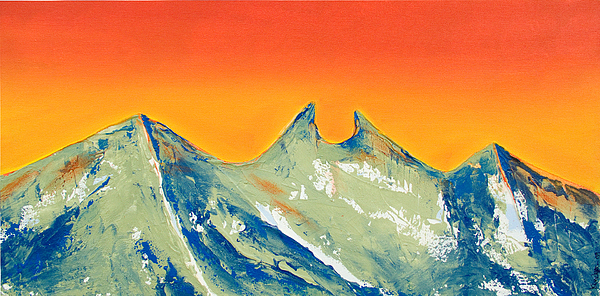 Acrylic Painting Painting - Sunrise La Silla by Kandyce Waltensperger