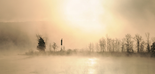 Morning Photograph - Sunrise On A Foggy Morning by Louise Fahy