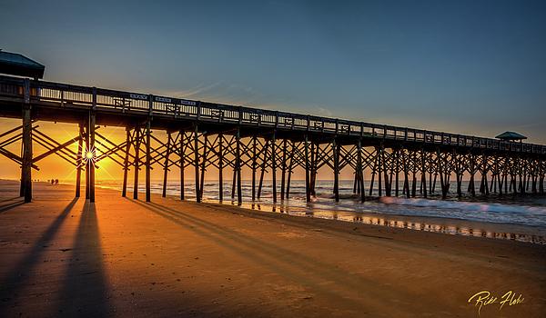 Beach Photograph - Sunrise On Folly Island by Rikk Flohr