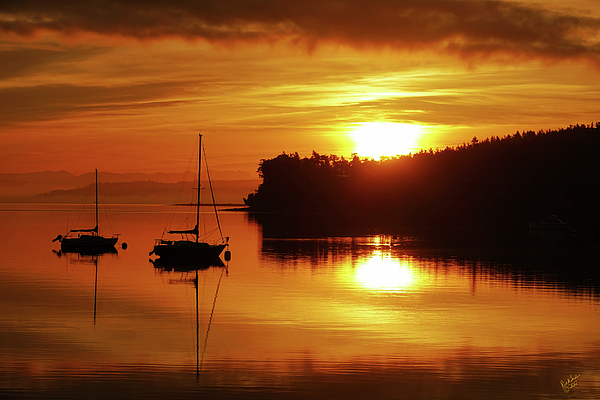 Sunrise Photograph - Sunrise On The Cove by Rick Lawler