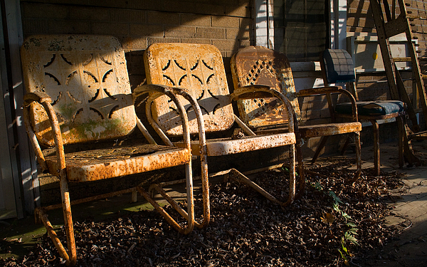Sunrise Photograph - Sunrise On The Porch by Mike Nalley