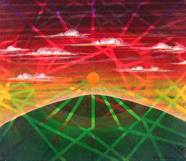 Landscape Painting - Sunrise by Rollin Kocsis