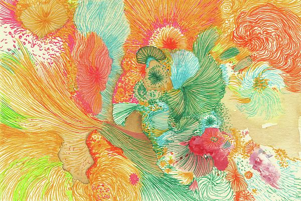 Sunrise Drawing - Sunrise - #ss18dw001 by Satomi Sugimoto