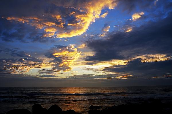 Aqua Photograph - Sunrise by Svetlana Sewell