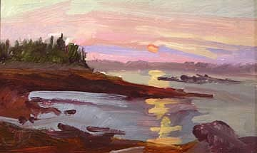 Betty Billups Painting - Sunrise Upon The Shore  No. 1669 by Billups Fine Art