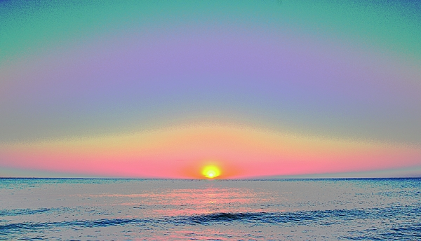 Soft Colors Digital Art - Sunrise With Digits by Cloe Couturier