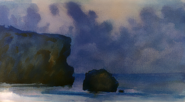 Sea Painting - Sunset 4 by Valeriy Mavlo