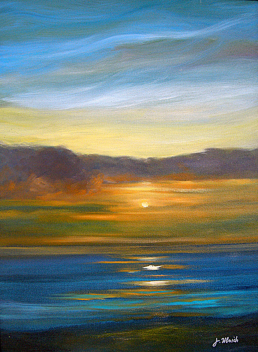 Seascape Painting - Sunset 9 by Jeannette Ulrich