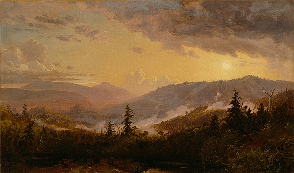 Sunset Painting - Sunset After A Storm In The Catskill Mountains by Jasper Francis Cropsey